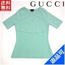 グッチ レディース Tシャツ GUCCI ♯Mサイズ 半袖 クルーネック カットソー 人気 激安 【中古】 X6381