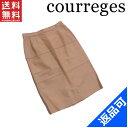 クレージュ レディース スカート courreges ♯67-93サイズ ロゴ刺繍 タイトシルエット ヒザ丈 激安 人気 【中古】 X7415