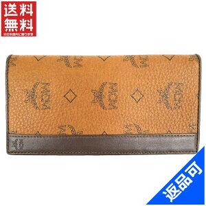 [半額セール]エムシーエム MCM 財布 長札入れ ロゴ 中古 X12470