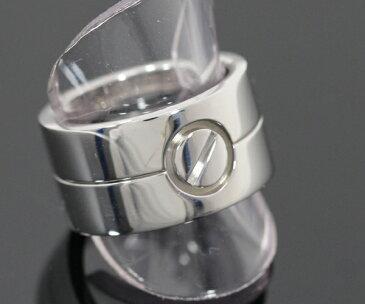 新同 仕上げ済 Cartier カルティエ ハイラブリング K18WG #52 ペアリング ワイド LOVE 750 ホワイトゴールド【中古】