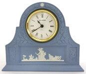 WEDGWOOD・ウェッジウッドジャスパーペールブルーマントルクロック置時計インテリアおしゃれ未使用品19-5063