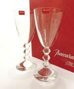 Baccarat・バカラクリスタルベガシリーズワイングラス(L)ペアセットおしゃれブランド食器未使用品19-7047