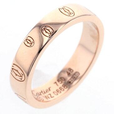 カルティエ ハッピーバースデー ロゴ ウェディング リング 指輪 B4051100 K18ピンクゴールド 8号 レディース CARTIER 【中古】 K81017159