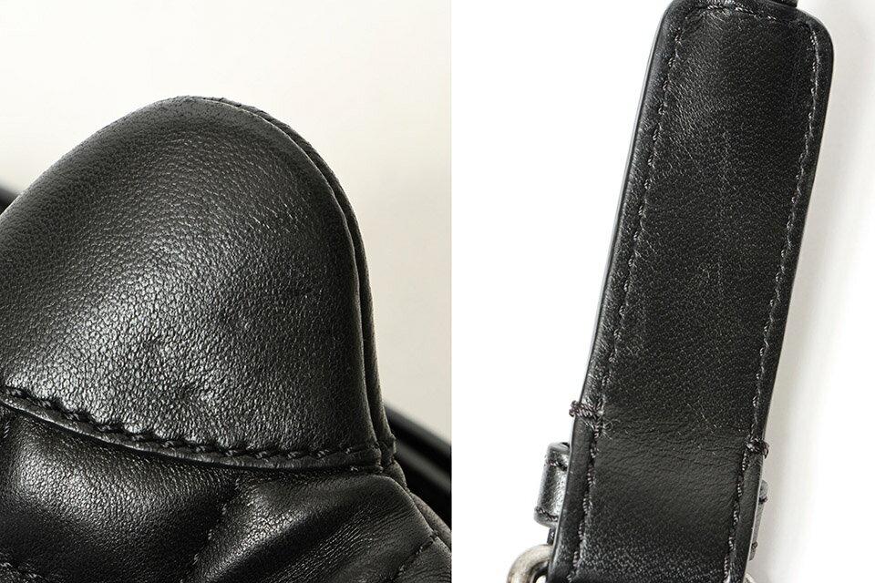 シャネル CHANEL マトラッセ ウエストポーチ ウエストバッグ ボディバッグ ラムスキン 黒 ヴィンテージシルバー金具 A94102 バッグ