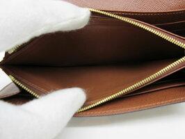 【送料無料・代引き手数料無料】【中古】【美品】ルイヴィトン・モノグラムラインポルトフォイユ・サラM60531二つ折りファスナー付き長財布