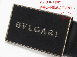 【送料・代引き手数料無料】【美品】BVLGARIブルガリ32708ブラックメンズベルト#110