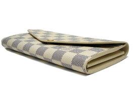 【送料・代引き手数料無料】【未使用訳あり】LOUISVUITTONルイヴィトンダミエ・アズールポルトフォイユ・サラN63208二つ折り長財布