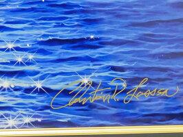 【送料・代引き手数料無料】【美品】【希少品】ChristianRLassenクリスチャンリースラッセンブライトフューチャーSミクスドメディア手彩色絵画限定版画