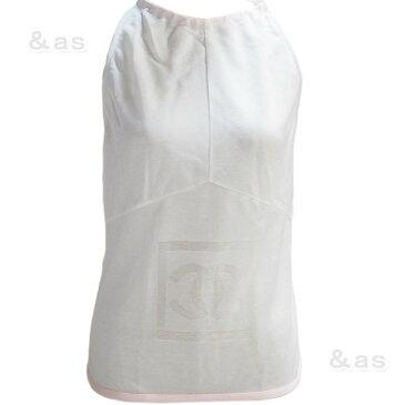 【未使用品】 シャネル シースルーノースリーブシャツ ピンク 40 P21326 【訳あり処分】 CHANEL