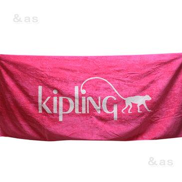 【未使用品】 キプリング Kipling 非売品ロゴ入りビーチタオル ピンク unusde
