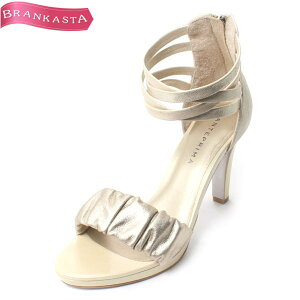 \Bargain basement price/30% off our regular price [30% OFF] ANTEPRIMA Leather High Heel Sandals JPN:24 1/2 Champagne Gold x Cream [Ladies Summer 24.5 Party Unused] [Very good] [Pre-owned] Rakuten Fashion THE SALE] ★22ww94