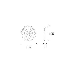 610800太陽壁飾S