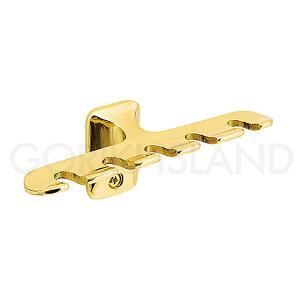 【浴室可】クラシカルな真鍮色(金色)壁付けタイプハブラシホルダー