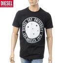 ディーゼル DIESEL クルーネックTシャツ 半袖 メンズ T-JOE-A 00SN58-0091B ブラック
