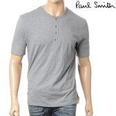 PAUL SMITH【ポールスミス】メンズ半袖Tシャツ/ヘンリーネック/グレー/AMXA 371B U278