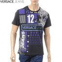 ヴェルサーチジーンズ VERSACE JEANS クルーネックTシャツ 半袖 メンズ B3GRA76B 36609 ブラック 2018春夏セール