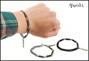 quolt【ブラック】MIXBRACELET(クオルト)ブレスレット