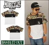 MOBSTYLES モブスタイル MOSH DRY Tee CAMO/WHITE 速乾ドライTシャツ