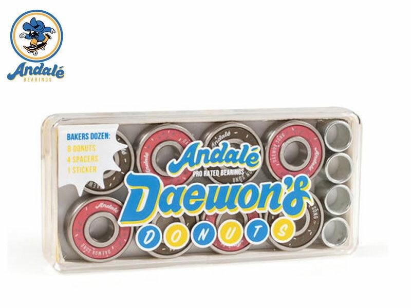 パーツ, ベアリング Andale Bearings Daewon Song Donut Box bearing 18 Signature Pro Model 11246015
