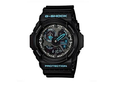 【G-SHOCK/GA-300BA-1AJF】ブラック×ブルーシリーズ腕時計CASIOカシオ