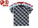 NESTA BRAND NESTABRAND ネスタブランド Tシャツ 半袖 総柄 T1412SMオーリー サムライ SAMURAI OLLIE ストリート スト系 メール便対応