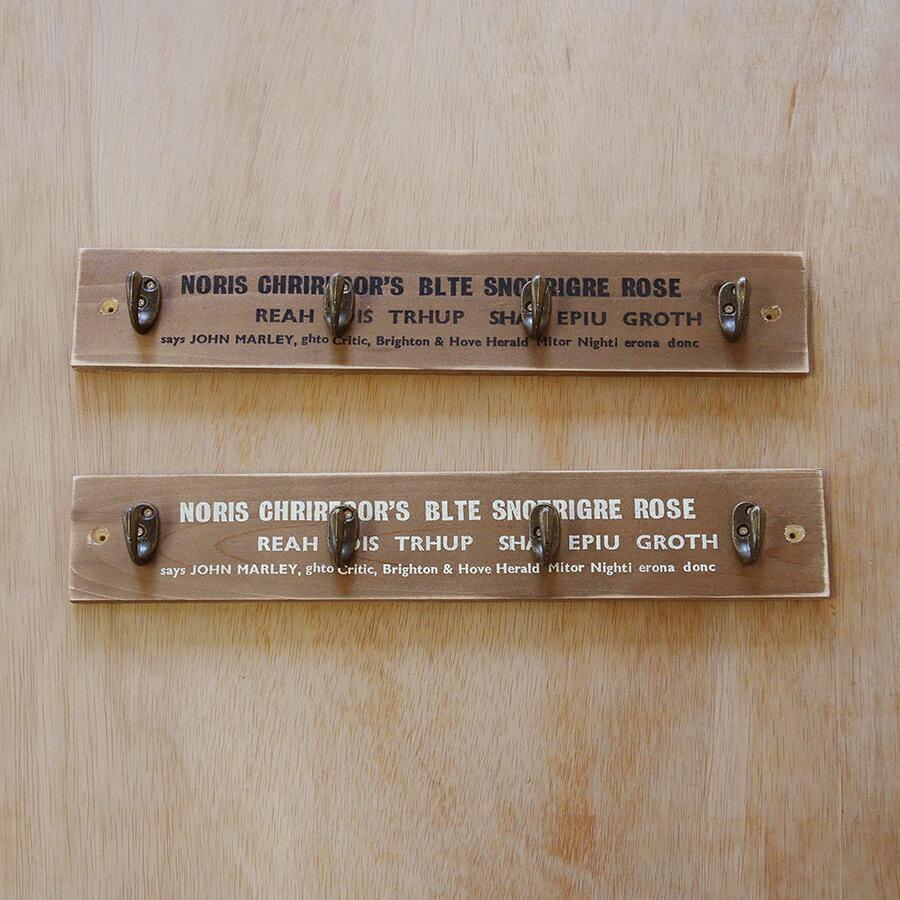 【BREA】【アンティークフック36cm】壁掛け/コートハンガー/コート掛け/ウォールフック/帽子掛け/木製/日本製/男前/西海岸/ブルックリン
