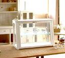 【BREA】木製ガラスショーケースNo.2ホワイト /アンティーク/ショーケース/コレクションケース/日本製/男前/西海岸/ブルックリン