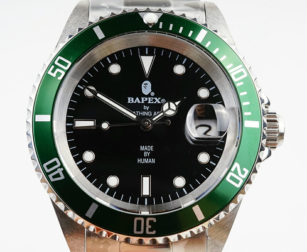 腕時計, メンズ腕時計 A BATHING APE Bapex T001 Rolex Submariner 40mm 34002