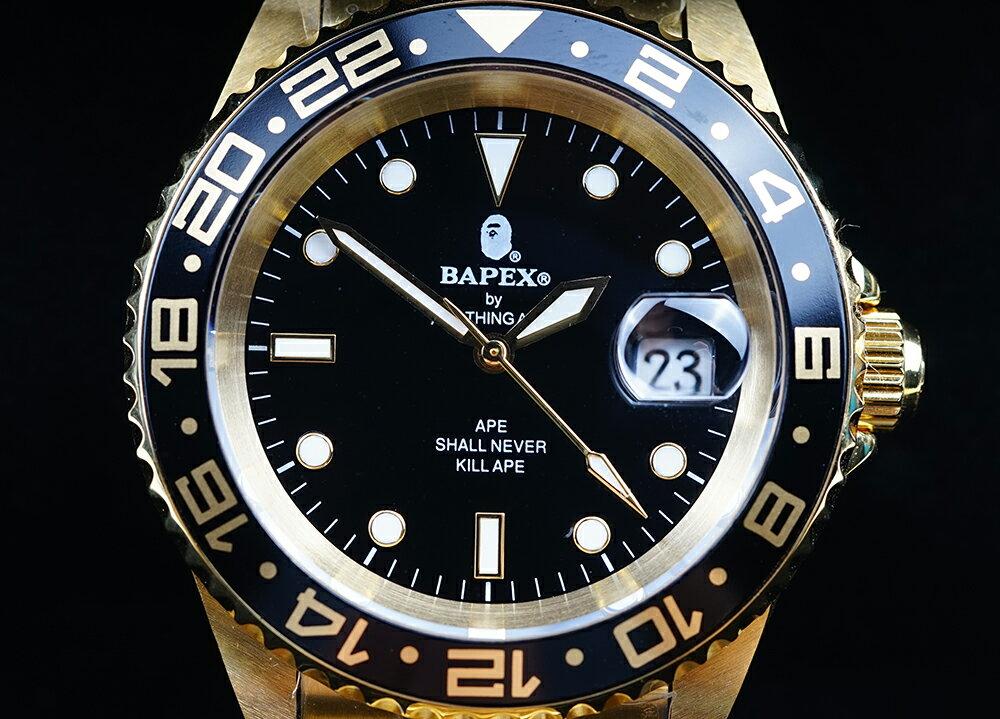腕時計, メンズ腕時計 A BATHING APE Bapex T001 Rolex GMT 40mm 33895