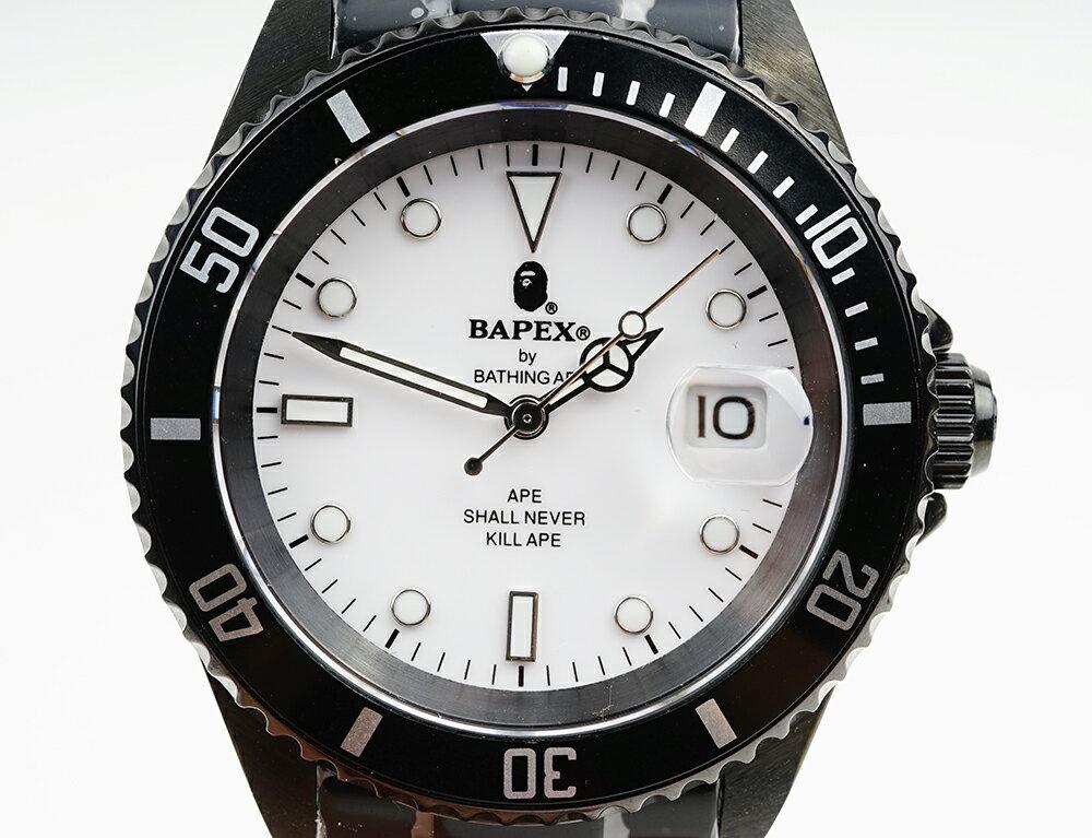 腕時計, メンズ腕時計 A BATHING APE Bapex T001 Rolex Submariner 40mm 33880F