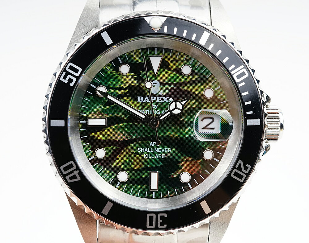 腕時計, メンズ腕時計 A BATHING APE Bapex T001 Rolex Submariner 40mm 33791