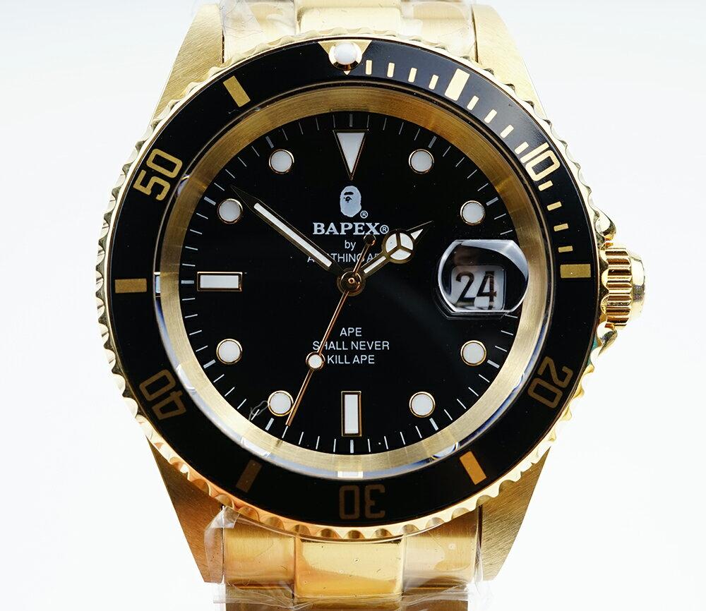 腕時計, メンズ腕時計 A BATHING APE Bapex T001 Rolex Submariner 40mm 33900