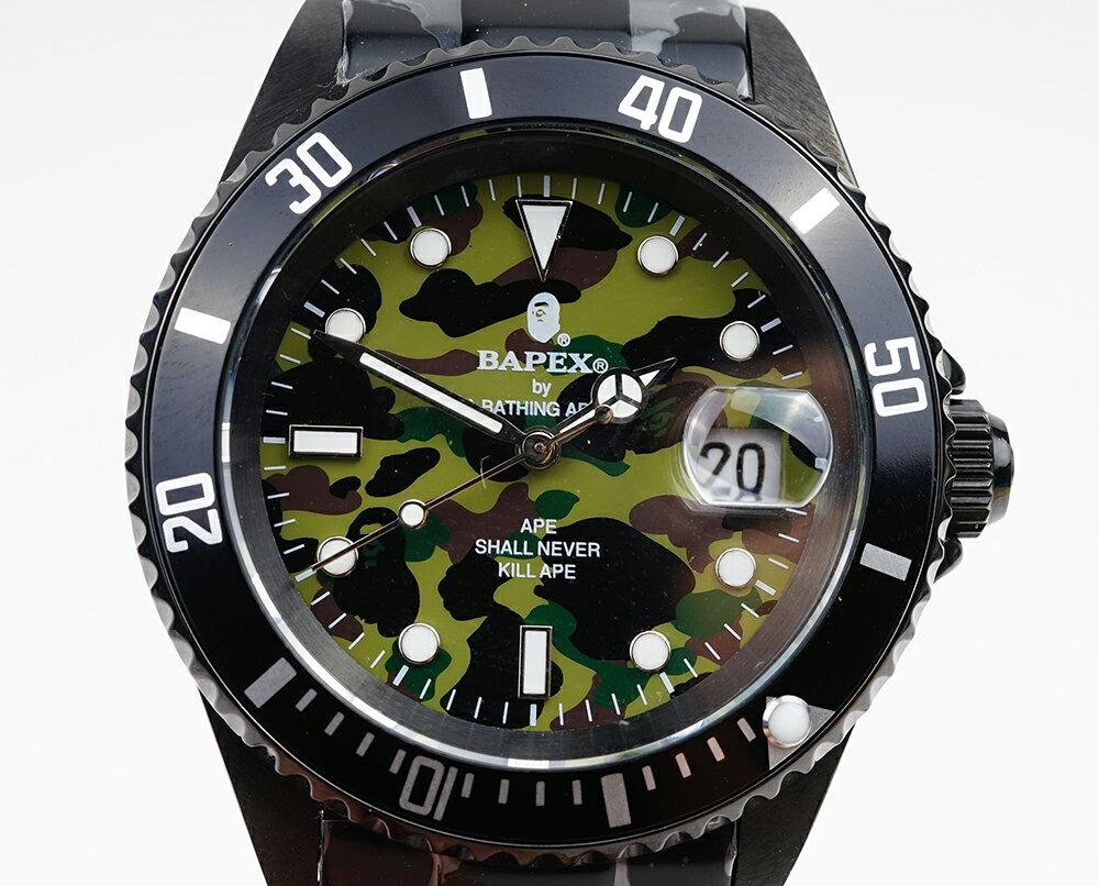 腕時計, メンズ腕時計 A BATHING APE Bapex T001 Rolex Submariner 40mm 33793