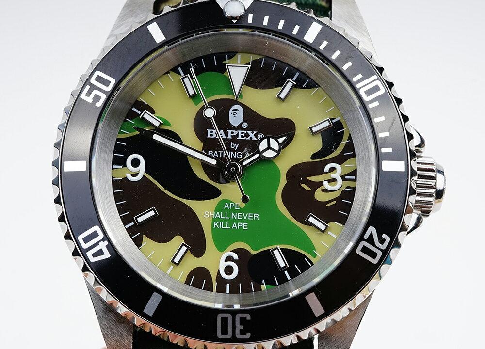 腕時計, メンズ腕時計 A BATHING APE Bapex T001 Rolex Submariner 40mm 33793Y