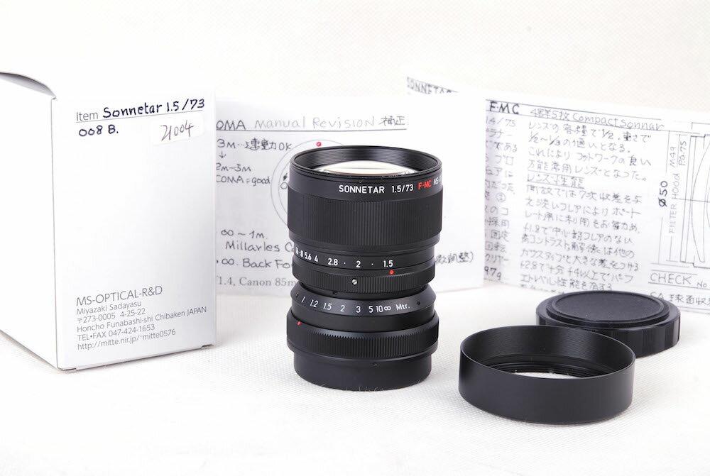 カメラ・ビデオカメラ・光学機器, カメラ用交換レンズ 2018MS-Optical Sonnetar 73mm F1.5 F-MC B JP7315B