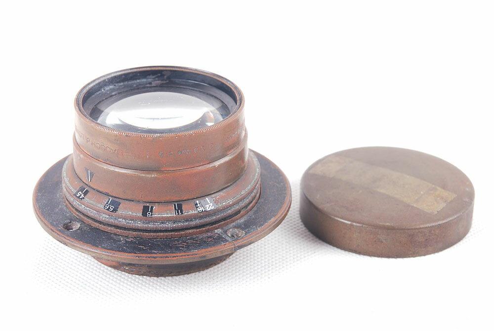 【特価並品】bausch&lomb/ボシュロム TESSAR f4.5 5x7 大判レンズ#jp20346