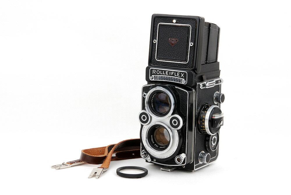 フィルムカメラ, フィルム二眼レフカメラ Rolleiflex 3.5F Planar 75mm F3.5 jp23356
