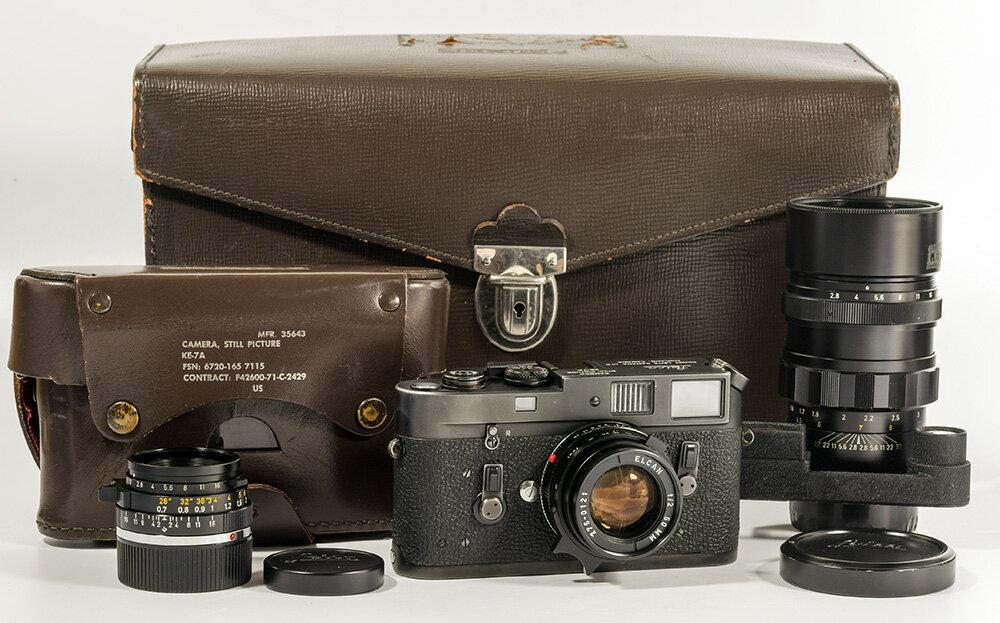カメラ・ビデオカメラ・光学機器, レンジファインダー Leica KE-7A summicron 352 elcan 502 elmarit 1352.8 outfit HK8814
