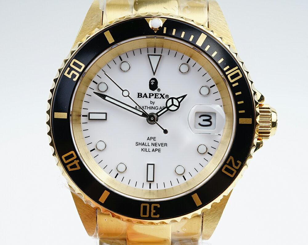 腕時計, メンズ腕時計 PE Bapex T001 Rolex Submariner 40mm 33890