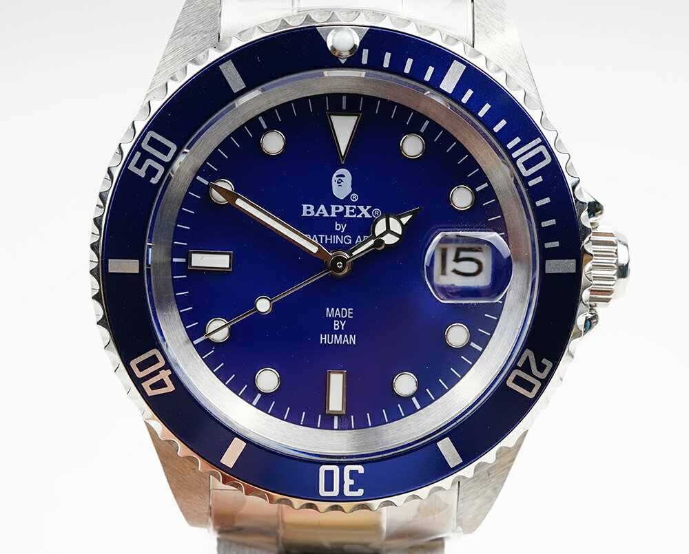 腕時計, メンズ腕時計 A BATHING APE Bapex T001 Rolex Submariner 40mm 33880