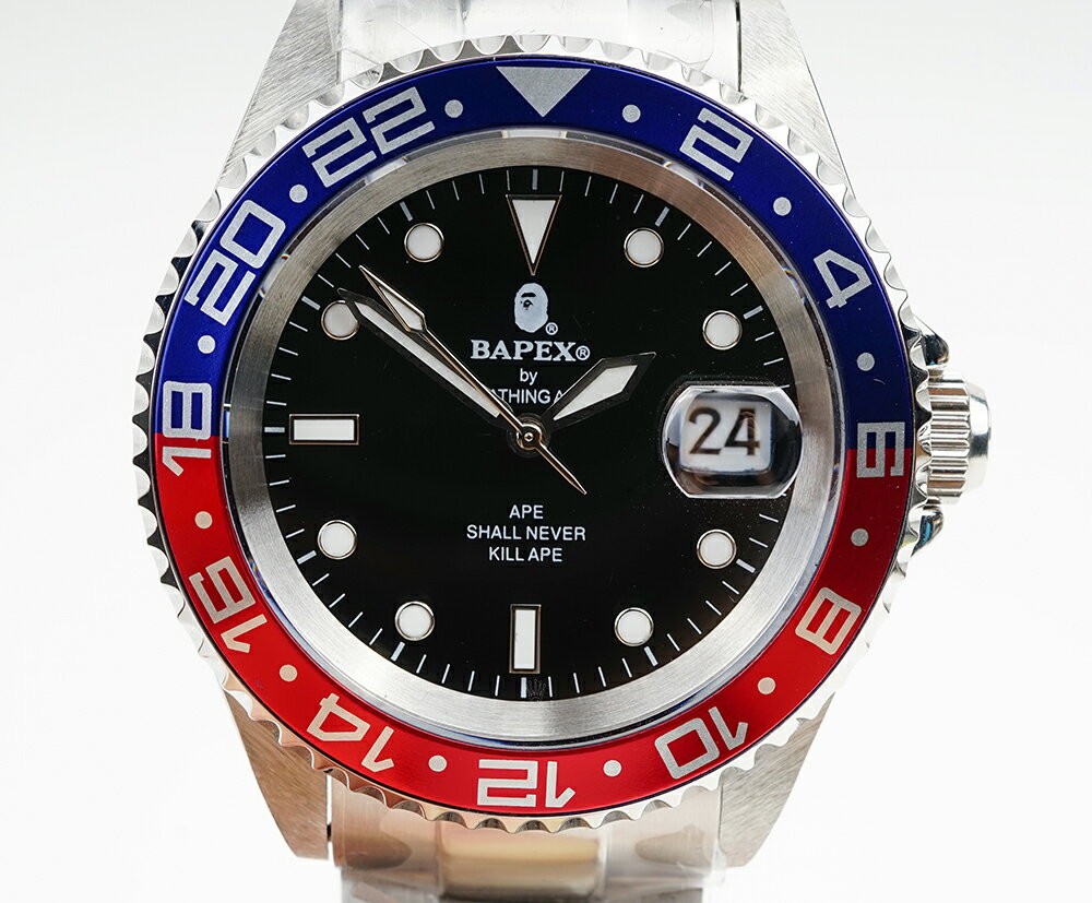 腕時計, メンズ腕時計 A BATHING APE Bapex T001 Rolex GMT 40mm 33875