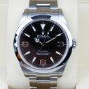 【新同品】Rolex/ロレックス Explorer/エクスプローラー I Ref.214270 新型ダイヤル ブラック 369 G番 自動巻き 腕時計#34060