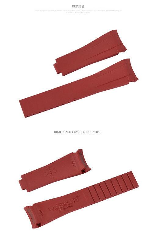 Rolex/ロレックス Yacht Master/ヨットマスタ 116622適用 VAGENARI ラバー ストラップ/ベルト 赤