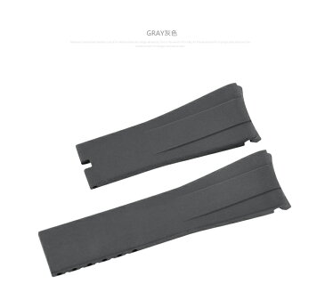Rolex/ロレックス Daytona/デイトナ 116515に適用VAGENARI ラバー ストラップ/ベルト グレー