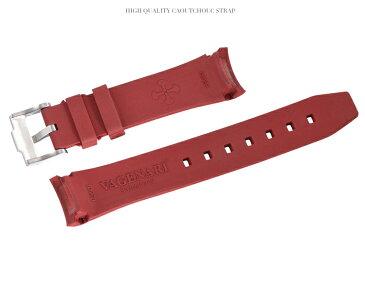 Rolex/ロレックス Daytona/デイトナ 116520、116523、116500、116503適用 VAGENARI ラバー ストラップ/ベルト レッド