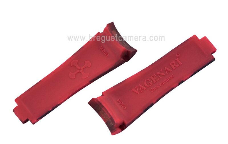 ロレックス/Rolex サブマリーナー/Submariner 116610、114060適用 VAGENARIラバー ストラップ/ベルト 迷彩/カモフラージュ 赤