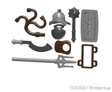 レゴ カスタム パーツ ミニフィグ グラディエーター セット ムルミッロ | lego ミニフィギュア 人形 ファンタジー 武器 装備