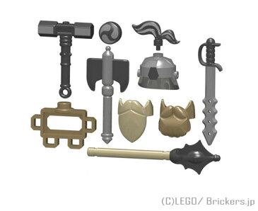 レゴ カスタム パーツ ミニフィグ ドワーフ ウォリアー セット 武器職人 | lego ミニフィギュア 人形 ファンタジー 武器 装備