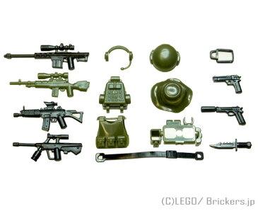 レゴ カスタム パーツ ミニフィグ ジャングル スナイパー セット | lego ミニフィギュア 人形 ミリタリー 武器 銃 ライフル 装備