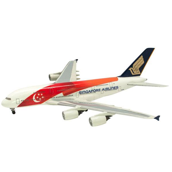 世界のエアライン シンガポール航空 シンガポール航空 AIRBUS 380 建国50週年塗装 1/500 | F-トys 食玩 エフトイズ